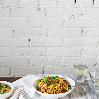 Charred Corn + Farro Risotto with Lobster