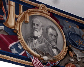 Photo: Close up of the border. Bobby Lee and President Grant (?).