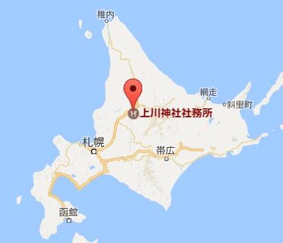 地図:上川神社