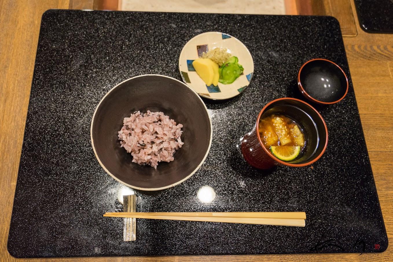 黒米入りご飯(蘭越産米ゆめぴりか)