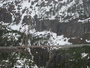 Photo: Single-support bridge spans an active fault