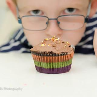 Chocolate Nestlé® Crunch® cupcakes.