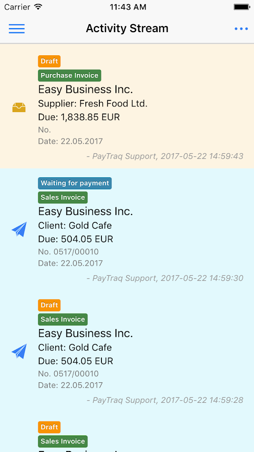 PayTraq Mobile- screenshot