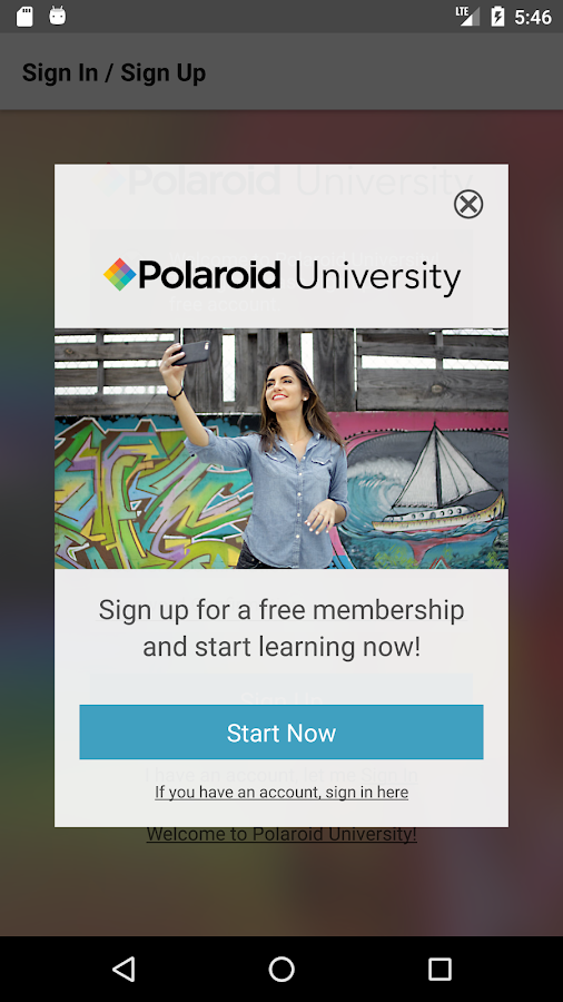 Polaroid University- screenshot