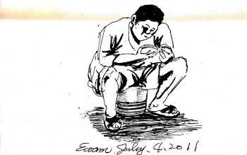 Photo: 開卷2011.07.04鋼筆 利用收工後的一點點時間,他在角落練起了金庸…