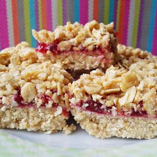 No Bake Vegan Jam Mini Crumb Squares.