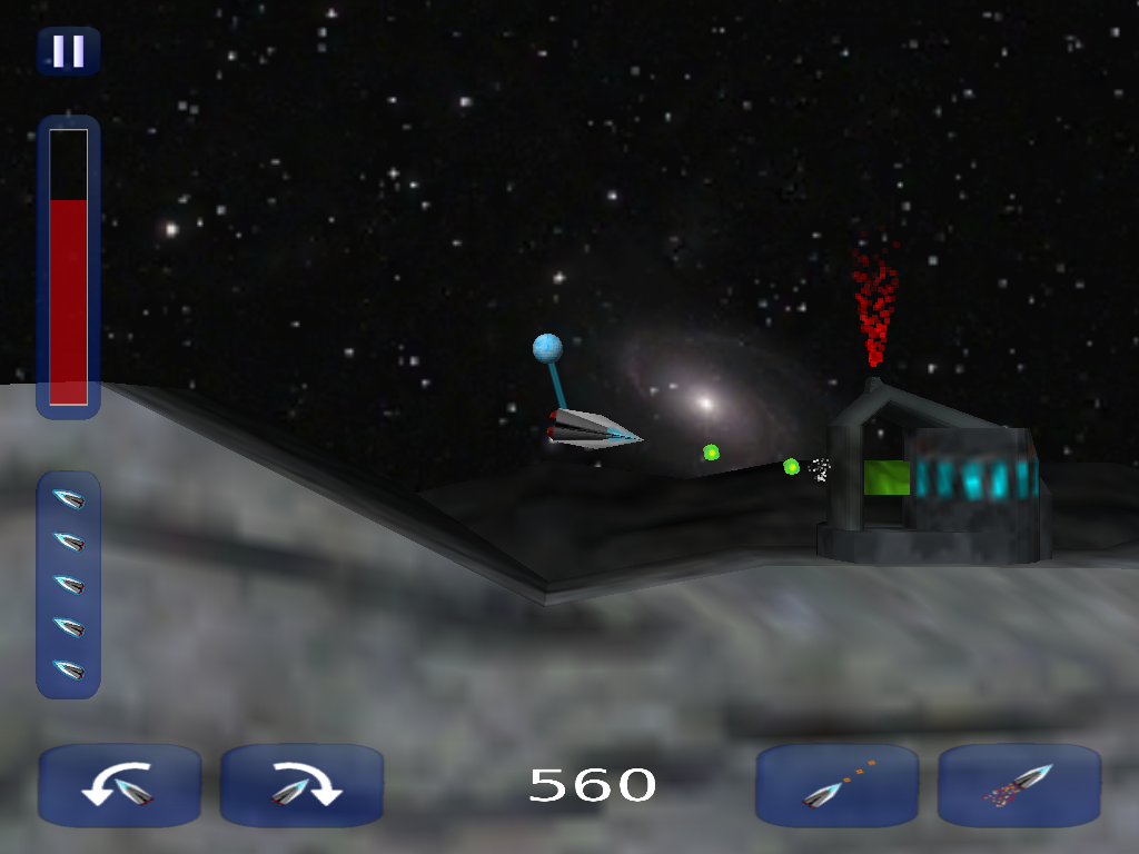xorf (Thrust remake)- screenshot