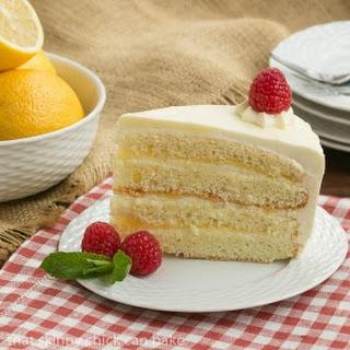 Lemon Mascarpone Layer Cake #BloggerCLUE