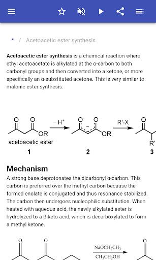 organic reactions screenshot 2