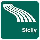 Sicily Map offline icon