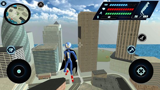 Download Flying Speed Stickman Rope hero Gangaster Crime For PC Windows and Mac apk screenshot 1