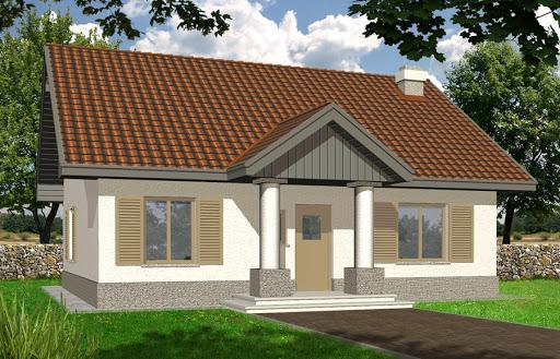 projekt Angela wersja A z pojedynczym garażem z prawej