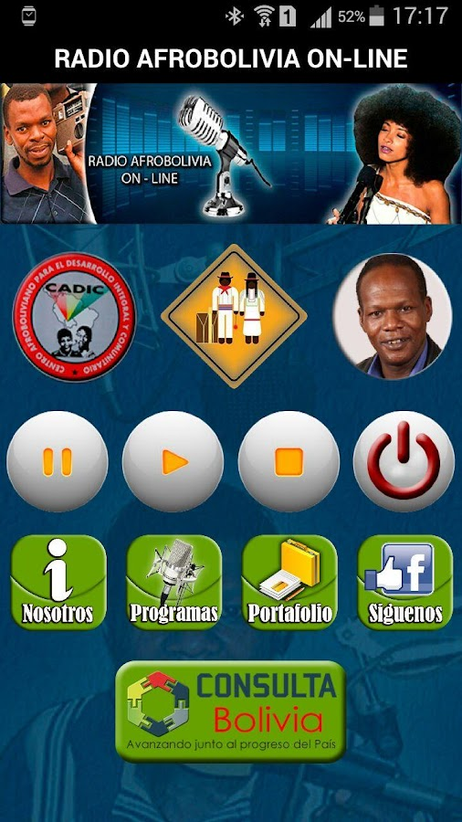 Radio Afrobolivia- screenshot