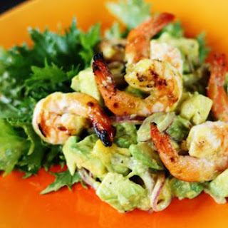 Avocado Mango Salad with Grilled Shrimp