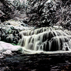 Falls by Geoff Gosse - Landscapes Waterscapes ( water, winter, hdr, falls, river )