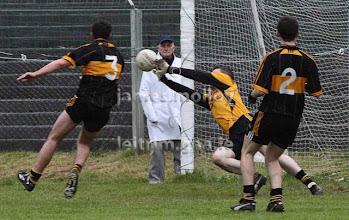 Photo: Feargal Mc Gill saves v Glencar Manorhamilton, Co Semi Final Replay 2009