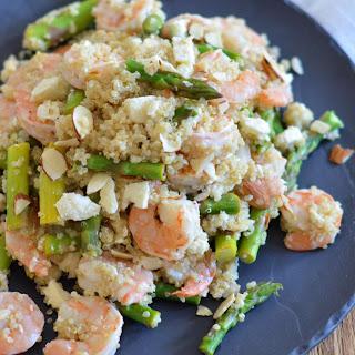 Shrimp and Asparagus Quinoa.