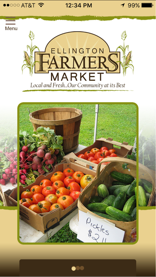 Ellington Farmers' Market- screenshot