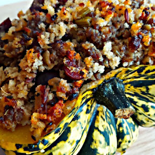 Sausage and Cranberry Stuffed Squash