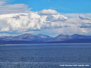 Photo: Clouds over Yellowstone Lake