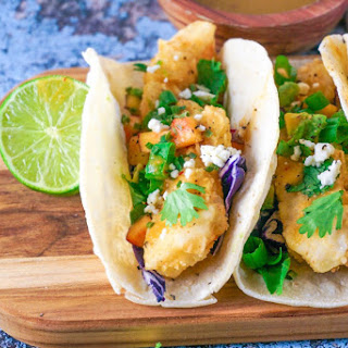Easy Battered Fish Tacos with Molli Mexico City Sauce.