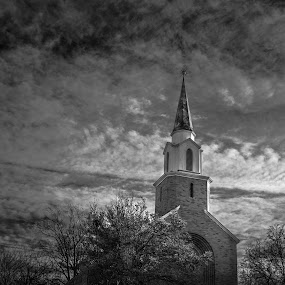 What Do You Think??? Shot Taken In Fairfield Right After A Rain Storm Last Week... December 2016 by Andrew Medvegy - Black & White Buildings & Architecture (  )
