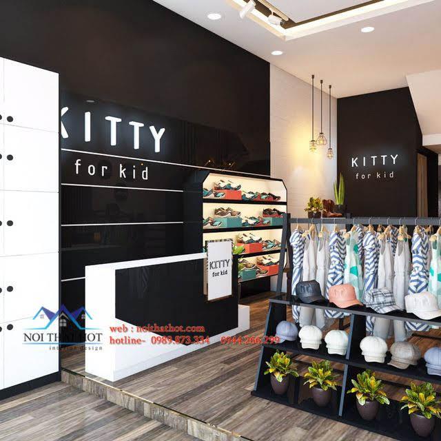 thiết kế shop thời trang trẻ em kitty 2