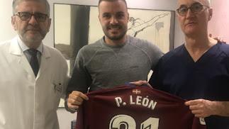 De Prado y Ripoll con Pedro León.