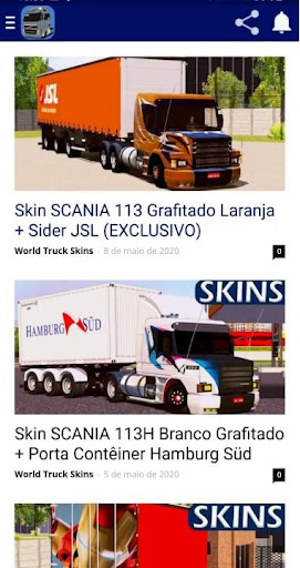 Skins World Truck Driving Simulator - WTDS ss1