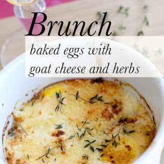 Recipe Baked Eggs with Goat Cheese and Herbs