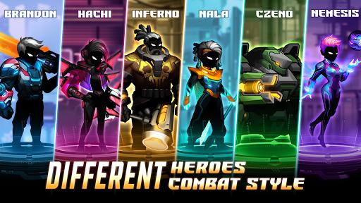 Cyber Fighters: Cyberpunk Stickman Impact Fighting screenshots 1
