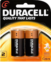 Duracell Battery - 2 Pack, Size C