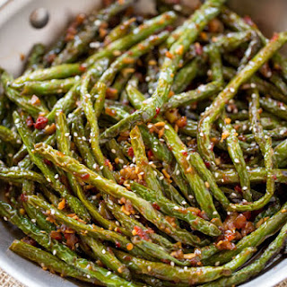 Spicy Chinese Sichuan Green Beans.