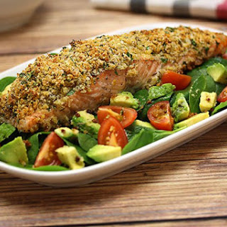 Herb Crusted Salmon Salad