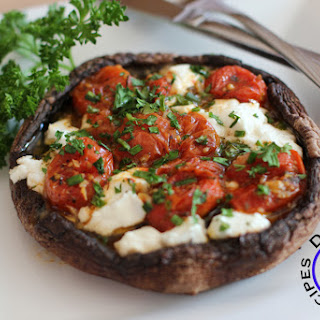 Goat Cheese and Herb Stuffed Portobello Mushrooms