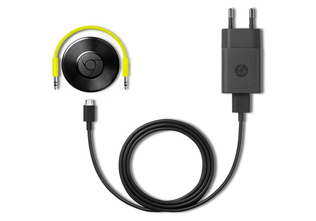 Chromecast Audio y cableado incluido