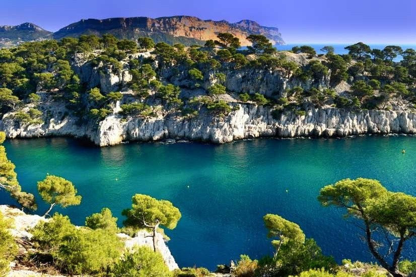 Каланки (Massif des Calanques) , каланки Марселя - Calanque de Port Pin Cassis