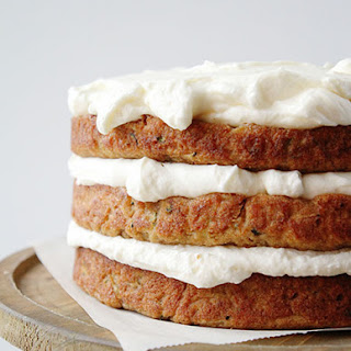 Zucchini Banana Layer Cake with Whipped Cream Cheese Frosting