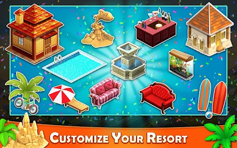 Resort Tycoon – Hotel Simulation MOD APK 9.3 [Unlimited Gems] 5