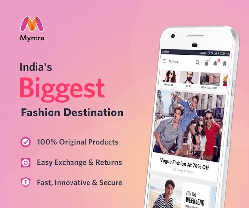 Myntra Online Shopping App app (apk) free download for Android/PC/Windows screenshot