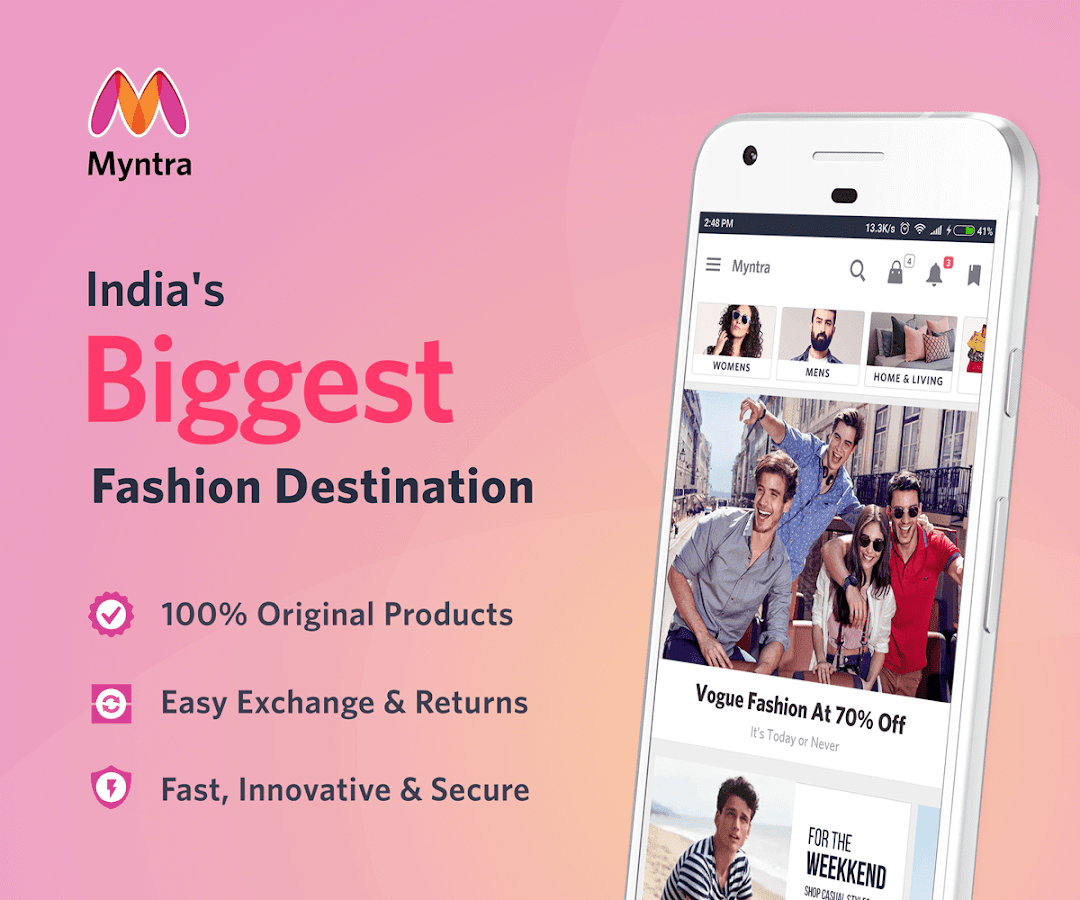 Screenshots of Myntra Online Shopping App for iPhone