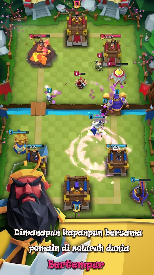 Game Perang Royale - Clash Of ThreeKing- screenshot