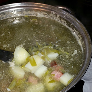 Ham, Green Bean, and Potato Soup!
