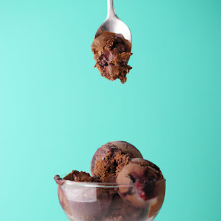 Super Dark Chocolate Ice Cream with Black Raspberry Swirl