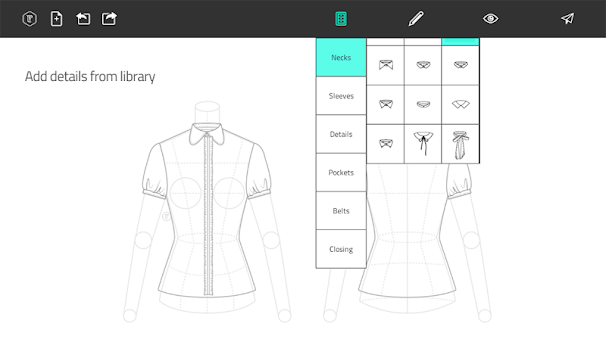 Fashion Design Flat Sketch APK screenshot thumbnail 13
