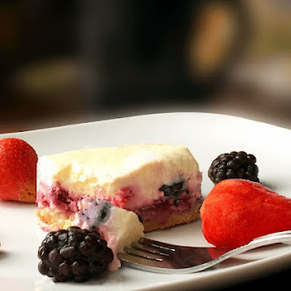 Mixed Berry Keto Cheesecake.