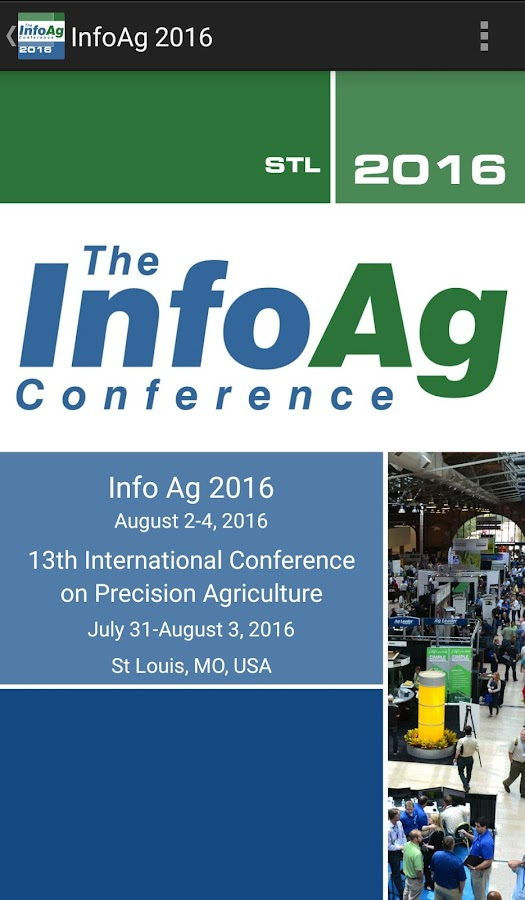 2016 InfoAg Conference App- screenshot