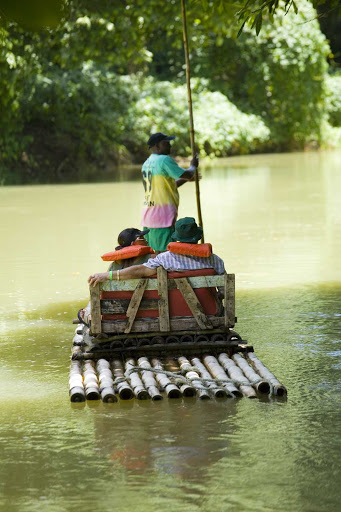 Visit the Martha Brae rafting village to catch a lift down the river in Montego Bay, Jamaica.
