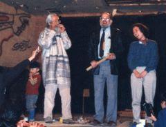 Photo: 1988年?アレン・ギンズバーグと(by セブン)