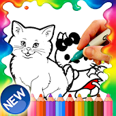 Cute Hello Cat Coloring Pages